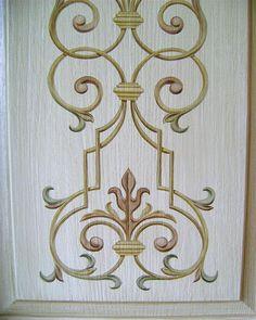 Paint affect on a door panel