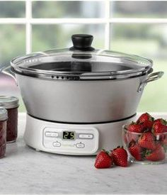Automatic Jam & Jelly Maker?! This is so cool! It only takes 30 minutes AND it's self stirring!! Canning 101, Home Canning, Canning Recipes, Jam Recipes, Crockpot Recipes, Jam Maker, Jelly Maker, Jam And Jelly, Rice Cooker
