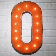 Custom 21 Orange Letter O Vintage Marquee Signs