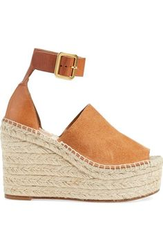 Free shipping and returns on Chloé 'Isa' Espadrille Wedge Sandal (Women) at Nordstrom.com. Chloé takes the espadrille to new heights with the Isa sandal, featuring a two-piece, open toe design and a flattering ankle strap set off by sleek hardware. A lofty jute-wrapped platform heel completes the standout look.