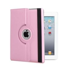 For Apple iPad mini1/2/3 360 Rotating Leather Case Smart Cover Stand Folio Pink
