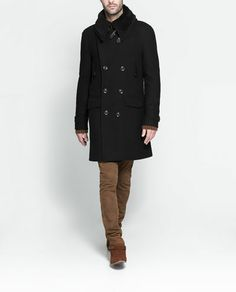 ZARA - MAN - COAT WITH FURRY COLLAR