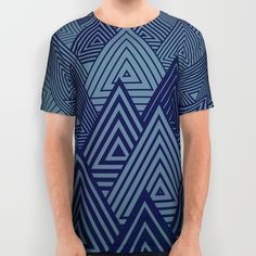 Indigo Forest All Over Print Shirts