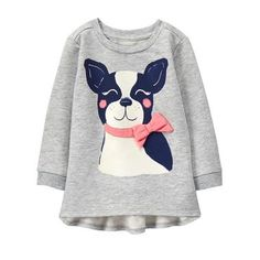 Look what I found on Light Gray French Bulldog Ruffle-Accent Tunic - Infant, Toddler & Girls World Of Warcraft, Toddler Outfits, Kids Outfits, Toddler Girls, Infant Toddler, Grey French Bulldog, Kid Closet, Gymboree, Shirt Blouses