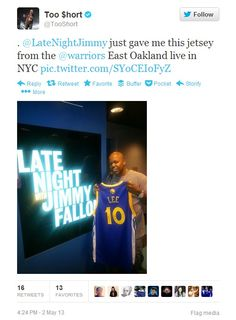 Welcome to #DubNation, Too $hort!