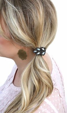 Beaded Cuff Ponytail Holders