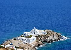 "Chrissiopigi on the Greek island of Sifnos, a model for the monastery depicted in my humorous suspense novel ""Ring of Fire."""