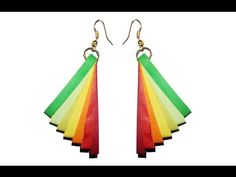 Quilling Earrings with rainbow colors New model quilling earring making ...