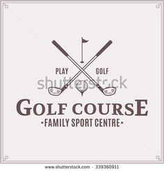 Golf club logo for golf tournaments, organizations and country clubs.
