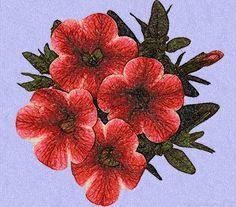 Petunias photo stitch free embroidery design - Photo stitch embroidery designs - Machine embroidery community