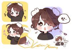to the owner] Jungkook Fanart, Kpop Fanart, Bts Jungkook, Namjoon, Bts Chibi, K Pop, Bts And Exo, Bts Drawings, Cartoon Memes