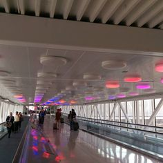 Kinda cool little light show at Indianapolis International Airport.... Hard to capture in a regular photo... But it was neat... Good to be home