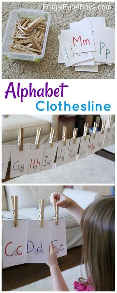 This fun learning activity for preschoolers and kindergartners combines fine motor practice with learning the letters of the alphabet! My 3 and 5 year olds both loved this, and it's a piece of cake to set up. Preschoolers love to use clothespins. Working a clothespin is also great for strengthening hand muscles and developing fine...Read More »