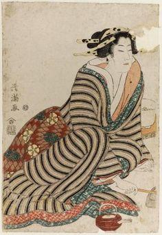 Three Kinds of Drunks (Sannin namayoi) Japanese Ink Painting, Print Place, Traditional Japanese Art, Japanese Prints, Triptych, Woodblock Print, Illustration Art, Illustrations, Art Drawings