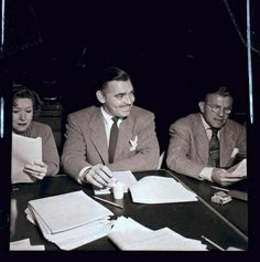 George Burns & Gracie Allen rehearsing with Clark Gable