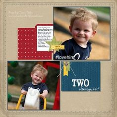 Boy scrapbook page that should be easy to duplicate!
