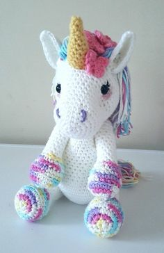 Lavender Unicorn Crochet Pattern ONLY not a finished product - Amigurumi PDF instant download #affiliate #crochet #crochetpattern