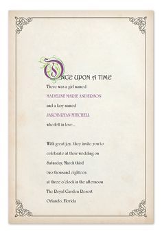 Story Book Ending - Wedding Invitations by Invitation Consultants. (Item # IC-GD-MBT21 )