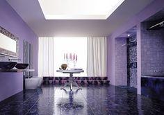 Baño Color Violeta.