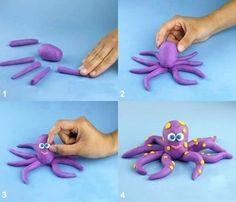 Hướng dẫn nặn con bạch tuộc
