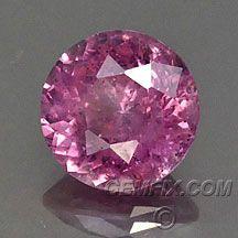 untreated round pink sapphire