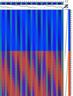 Draft 3 - Networked Twill, various color combinations