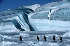 Antartica hielo por capas