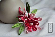 Diy Fashion, Fashion Jewelry, Chinese Hairpin, Silk Thread, Hair Pins, Ribbon, Hair Accessories, Crochet, Flowers