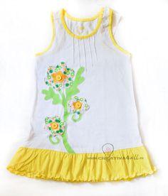 Vestido para niña original, divertido y personalizado www.creativa4all.es