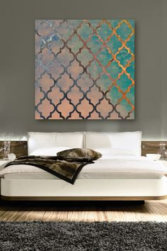 Oliver Gal Amour Arabesque Canvas Art on HauteLook. DIY pink on gold for Q's room?