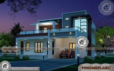 Indian Style Home Design & 80 Two Storey Home Designs Collections Home Design Images, House Design Pictures, Home Design Plans, Low Cost House Plans, Small House Plans, House Front Design, Small House Design, Beautiful House Images, New Model House