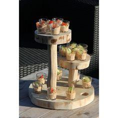 Cupcake, borrel, hapjes etagere. Speelse houten etagere www.decoratietakken.nl Table, Cupcake, Furniture, Home Decor, Decoration Home, Room Decor, Cupcakes, Tables, Cupcake Cakes