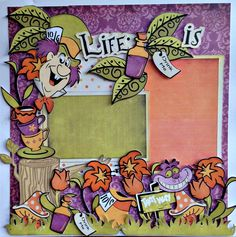 Nanne's Creations: Life is an adventure two page Disney Scrapbook Pages, Scrapbook Sketches, Scrapbook Page Layouts, Scrapbook Cards, Scrapbooking Ideas, Disney Cards, Disney Love, Alice In Wonderland Crafts, Disney Magic Kingdom