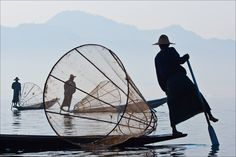 Fishermen at Dawn on Inle Lake - © 2010 Chris Martin