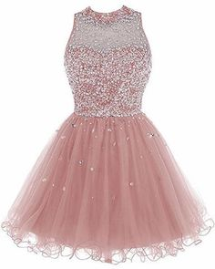 Bbonlinedress Short Tulle Beading Homecoming Dress Prom Gown Champagne -- Be sure to check out this awesome product-affiliate link. Dama Dresses, Quince Dresses, 15 Dresses, Evening Dresses, Formal Dresses, Dresses Online, Homecoming Dresses 2017, Cute Prom Dresses, Pretty Dresses