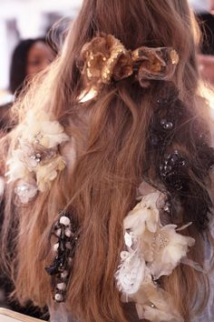 Rodarte Spring 2017 Beauty Had Sequin Hair Barrettes