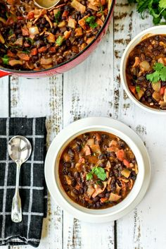 I had a bag of dried black beans that I cooked to make this amazing soup.  I refrigerated them in the liquid they were cooked in and made this soup a couple of days later. You can also use canned black beans.  It was so easy and economical to make with cooked dried black beans that I'll make it again that way.  This is a hearty and very satisfying soup.  I topped our bowls with grated cheddar cheese  and cilantro before I served them, oh my goodness, the melting cheese along with the flavors…
