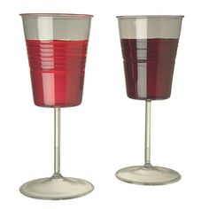 dixie cup wine glasses. these are hilarious!! need to own some!
