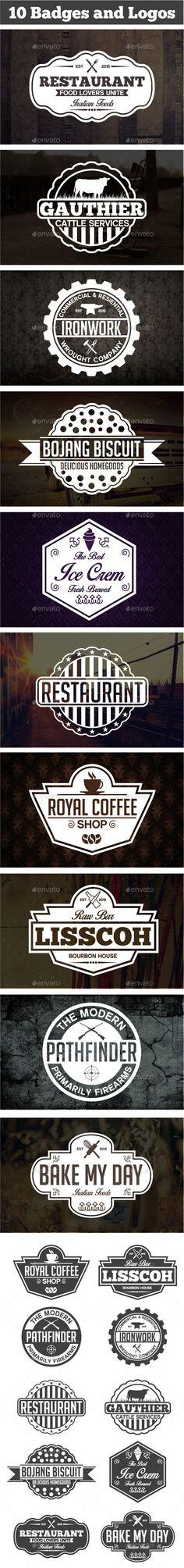 Vintage Labels & Badges #design Download: http://graphicriver.net/item/vintage-labels-badges/11306393?ref=ksioks