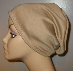 bcf18fca1 Camel Knit Chemo Cap, Cancer Hat, Alopecia, Modest Hat, by CJHats on Etsy
