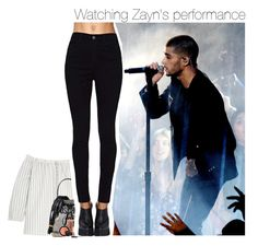"""Watching Zayn's performance"" by talitastyles ❤ liked on Polyvore featuring Madewell, Moschino and LORAC"