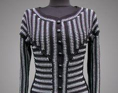 Crochet jacket Tess. Blue crochet Chanel style by TsarevaCrochet