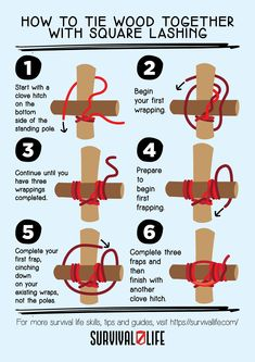 Lashing is one of the many practical ways you can tie things together. Even with several techniques to it, lashing is easy to learn and master. #lashingmethods #lashing #survivalskills #prepper #survival #survivallife