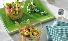 Tomaten-Gurken-Salat mit Ananas und Koriander   Knorr