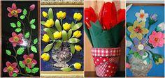 Cuadros y flores decorativos reciclando cucharas y tenedores de plástico ~ cositasconmesh