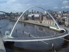 "Millenium Bridge by Red-Kit, flickr  ""The Gateshead Millennium Bridge spans the River Tyne in England between Gateshead on the south bank, and Newcastle upon Tyne on the north bank."