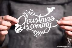 """""""Christmas is coming"""" Paper cut designed by Camilla Anchisi for """"I FALL IN CHOCOLATE""""blog - info: ifallinchocolate@gmail.com"""