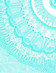 Delicate aqua blue green mandala corner Tangled or zentangle? Tumblr Patterns Backgrounds, Pretty Backgrounds, Wallpaper Backgrounds, Winter Backgrounds, Wallpaper Iphone Tumblr Boho, Iphone Wallpaper, Mint Wallpaper, Teal Background, Background Patterns