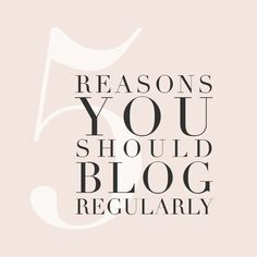 5 Reasons You Should Blog Regularly | For Photographers | Holli True