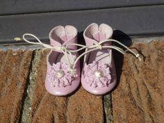 Leder Puppenschuhe für alte oder moderne Puppe / Leather Shoes for antique Doll